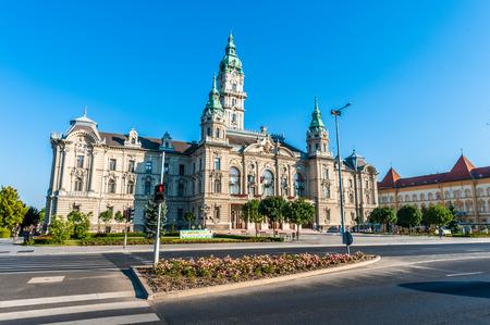Rathaus von Gyor, Ungarn Standard-Bild - 91535069