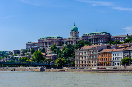 Architecture of the Buda Side, Budapest Stock Photo