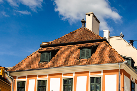 Architecture of Eger, Hungary Stock Photo