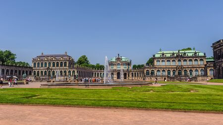 Park inside the Zwinger palace, Dresden, Germany Stock Photo
