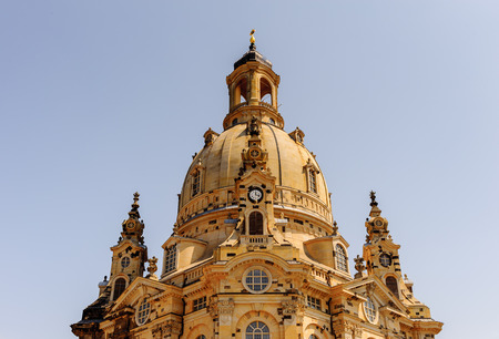 Dresden Frauenkirche (Church of Our Lady), a Lutheran church in Dresden, the capital of the German state of Saxony. Standard-Bild