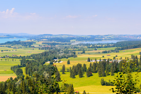 Lake among mountains of Bavaria, Germany Stock Photo