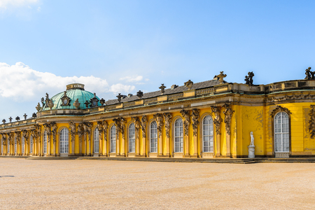 Sanssouci Palace, the former summer palace of Frederick the Great, King of Prussia, in Potsdam, near Berlin