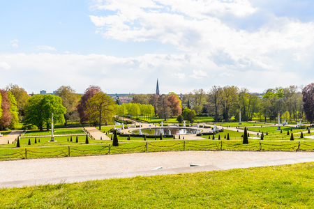 Garden of the Sanssouci Palace, the former summer palace of Frederick the Great, King of Prussia, in Potsdam, near Berlin