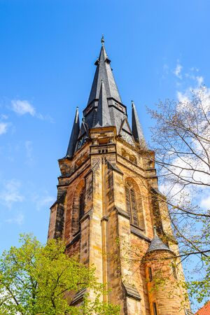 Church in Wernigerode, a town in the district of Harz, Saxony-Anhalt, Germany Stock Photo