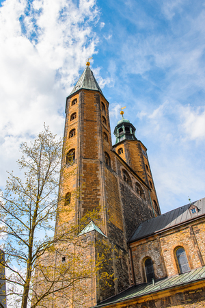Church in the Old town of Gorlar, Lower Saxony, Germany. Old town of Goslar