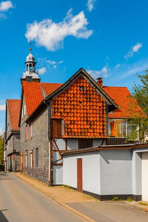 House in the Old town of Gorlar, Lower Saxony, Germany. Old town of Goslar