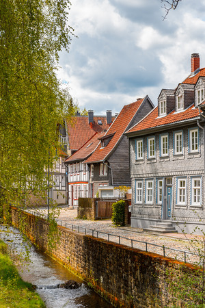 Architecture in the Old town of Gorlar, Lower Saxony, Germany. Old town of Goslar is a UNESCO World Heritage Stock Photo