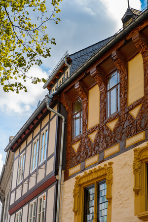 Architecture in the Old town of Gorlar, Lower Saxony, Germany. Old town of Goslar