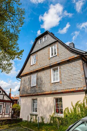 Close view of a house in the Old town of Gorlar, Lower Saxony Banque d'images