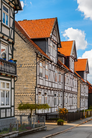 Half-timbered House in the Old town of Gorlar, Lower Saxony, Germany. Old town of Goslar is a UNESCO World Heritage Banque d'images