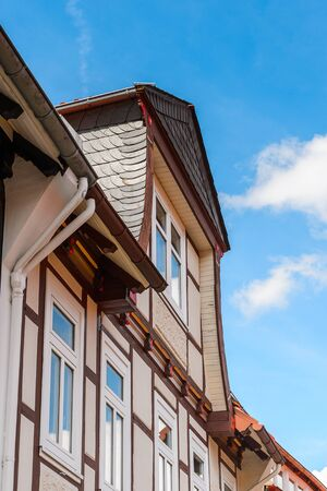Old town of Gorlar, Lower Saxony, Germany. Old town of Goslar Stock Photo