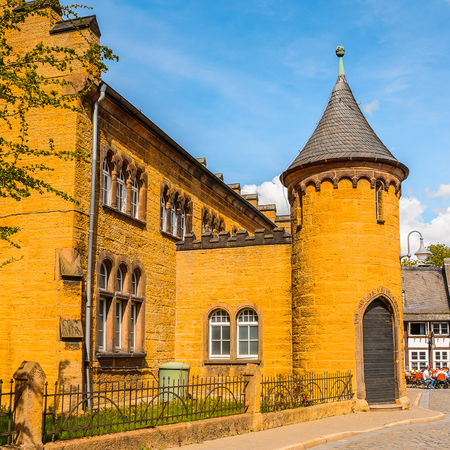 Old town of Gorlar, Lower Saxony, Germany. Old town of Goslar is a UNESCO World Heritage Stock Photo