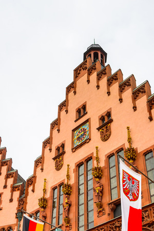 Architecture of the Old town in Frankfurt am Main, Germany. Frankfurt is the largest city in the German state of Hesse