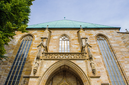 Back part of the Erfurt Cathedral and Collegiate Church of St Mary, Erfurt, Germany.  Martin Luther was ordained in the cathedral in 1507 Stock Photo
