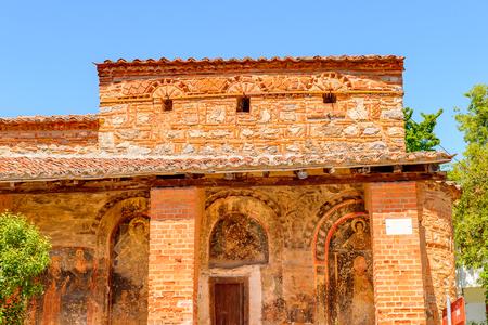 Byzantine Church of Taxiarchis Mitropoleos in Kastoria, West Macedonia, Greece Stock Photo