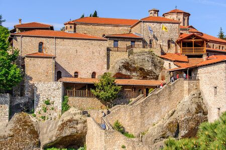 Holy Monastery of Grand Meteoran in Meteora mountains, Thessaly, Greece.