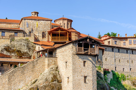 Holy Monastery of Grand Meteoran in Meteora mountains, Thessaly, Greece. UNESCO World Heritage