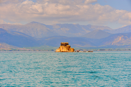 Beautiful Bourtzi castle, Nafplio, Greece