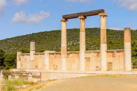 Colums of Abaton of  Epidaurus, Peloponnese, Greece.  UNESCO World Heritage