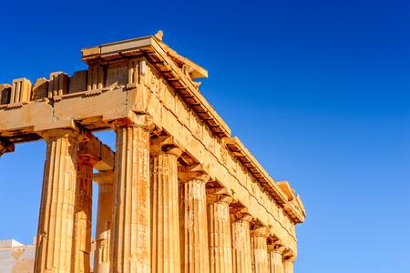 Parthenon, an ancient Greek temple dedicated to the goddess Athena, Acropolis of Athens.