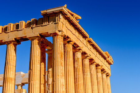 Parthenon, an ancient Greek temple dedicated to the goddess Athena, Acropolis of Athens.