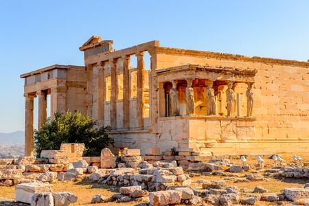 Erechtheion or Erechtheum, A Greek temple dedicated to both Athena and Poseidon. Acropolis of Athens. UNESCO World Hetiage site.
