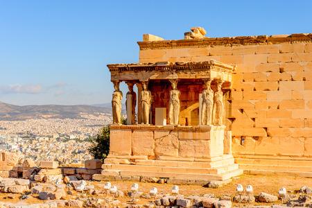 Erechtheion oder Erechtheion, ein griechischer Tempel, der Athene und Poseidon gewidmet ist. Akropolis von Athen.