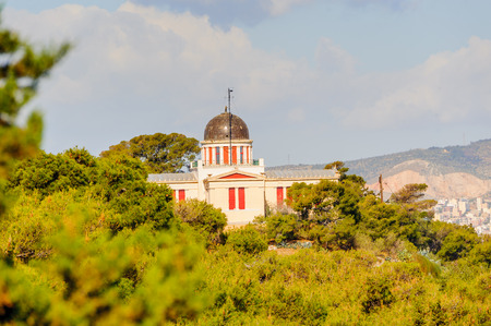 Church, view from the Acropolis of Athens. UNESCO World Hetiage site. Stock Photo