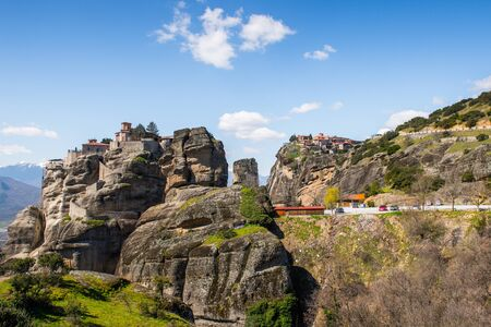 Holy Monastery of Varlaam in Meteora mountains, Thessaly, Greece.