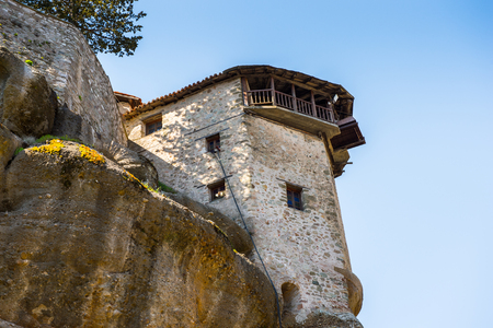 Holy Monastery of Great Meteoron in Meteora mountains, Thessaly, Greece.