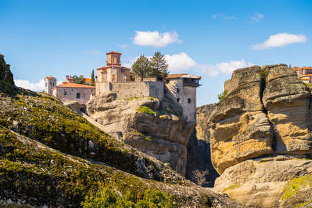 Monastery complex in Meteora mountains, Thessaly, Greece