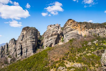 Monastery of the Meteora mountains, Thessaly, Greece.  UNESCO World Heritage