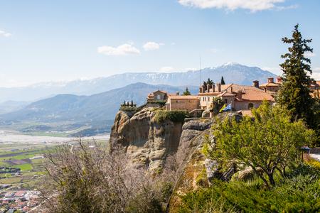 Holy Monastery of Saint Stephen in Meteora mountains, Thessaly, Greece. Stock Photo