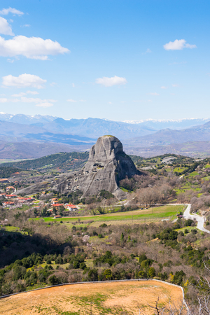 Meteora mountains, Thessaly, Greece.  UNESCO World Heritage List Stock Photo