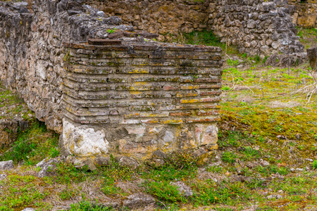 Ruins of the Dion Archeological Site in Greece 스톡 콘텐츠