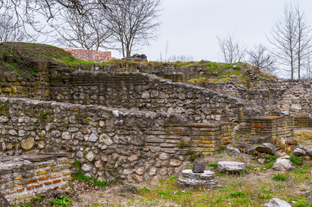 Ruins of the Dion Archeological Site in Greece 版權商用圖片