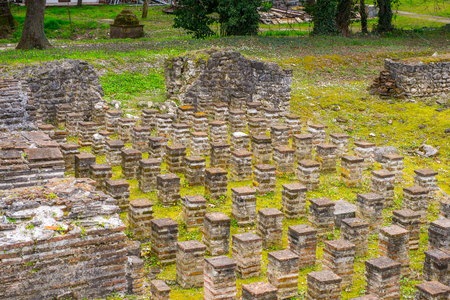 Ancient ruins in the Dion Archeological Site in Greece 版權商用圖片