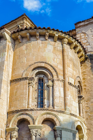 Architecture of Segovia, a medieval city in the region of Castile and Leon, Spain. Stock Photo