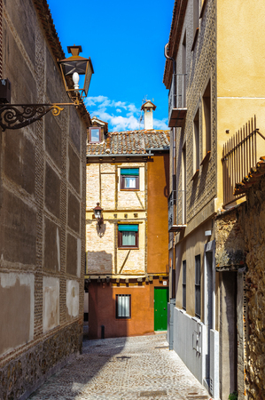 Street in a medieval town in Spain Stock Photo
