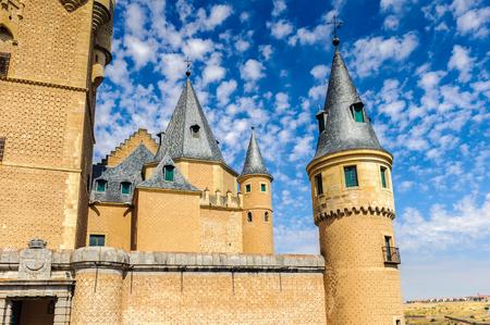 Part of the Segovia Castle (Alcazar), Spain