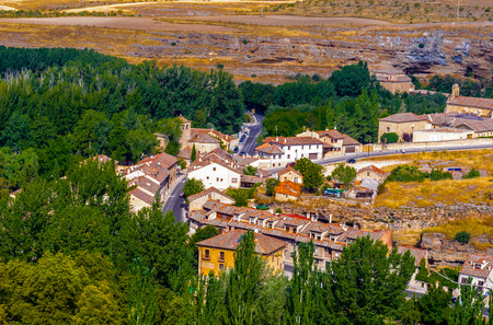 Spectacular view of the nature and architecture of the medieval Spain