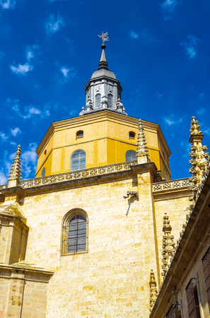 Segovia Cathedral facade, Segovia, Spain Stock Photo