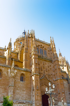 Facade of the Old Cathedral, Salamanca,  Spain