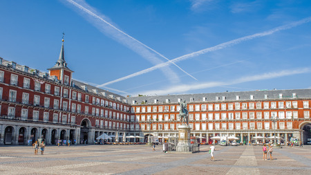 Plaza Mayor, the central square in Madrid, Spain