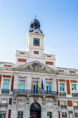 Post office of the Puerta del Sol, Km 0, Madrid, Spain
