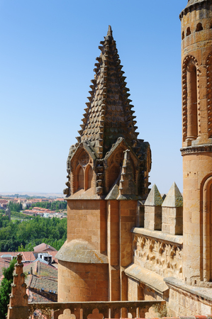 One of the towers of the New Cathedral of Salamanca, Spain
