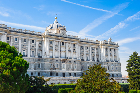 Royal Palace and the Sabatini gardens, Madrid, Spain