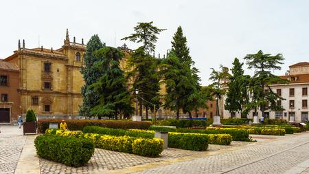 Yard in front of the Alcala University, Alcala de Henares, Spain