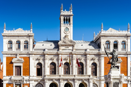 City hall of Valladolid, Spain. Close view 스톡 콘텐츠